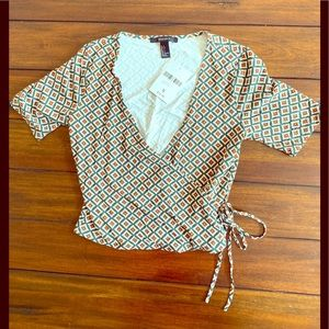 Forever 21 knit top side tie new with tags small